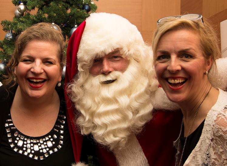 zang duo met kerstman